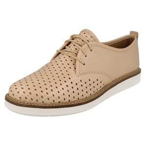 Clarks Casual Shoes Glick Resseta Nude Beige